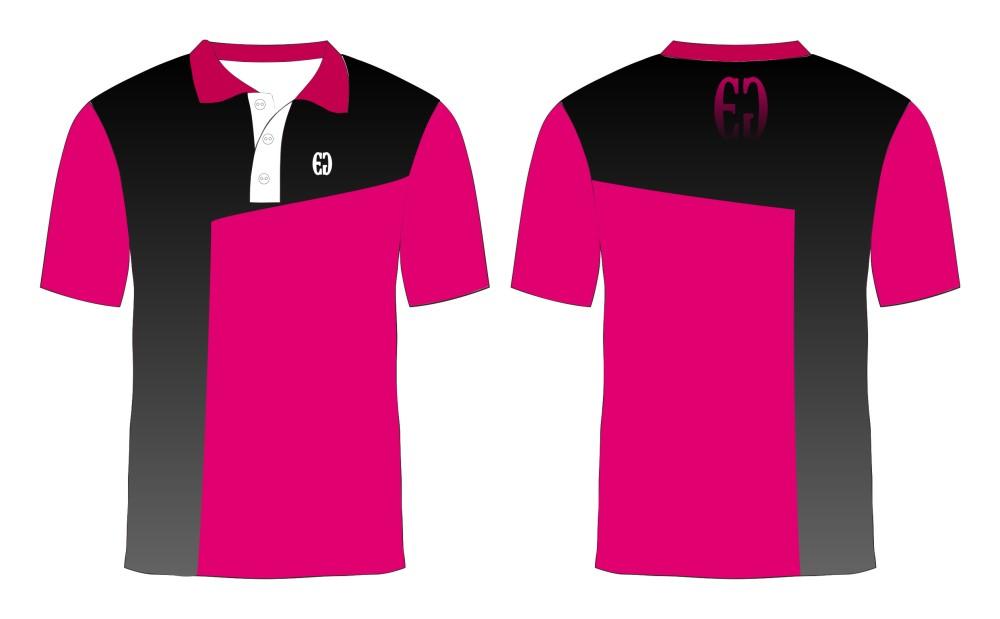 Pink with black shoulder and side